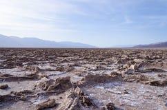 坏水位在死亡谷 库存照片