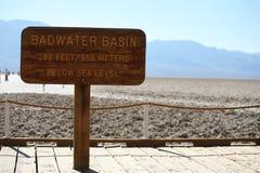 坏水在死亡谷 图库摄影