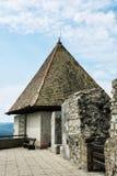 破坏维谢格拉德,匈牙利,细节照片城堡  图库摄影