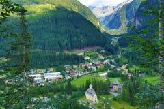坏Gastein, Tauerntunnel,从Stubnerkogel到坏Gastein,缆索铁路,奥地利的方式 库存照片