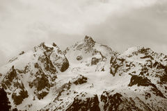 坏germogenov峰顶天气 免版税库存照片