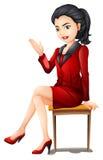 坐下一名的职业妇女 免版税图库摄影