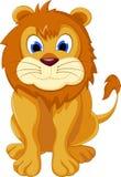 坐为您设计的动画片狮子 免版税图库摄影