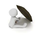 坐在雨中 免版税库存图片