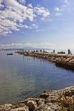 坐海湾的船坞 图库摄影