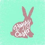 坐的兔子标志 库存例证