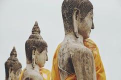 坐的古老菩萨雕象,泰国 免版税图库摄影