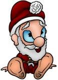 坐的圣诞老人 图库摄影