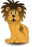 坐的狮子 库存照片