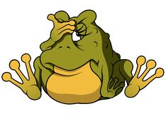 坐的青蛙 库存照片