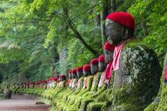 坐的Buddhas在Kanmangafuchi深渊 图库摄影