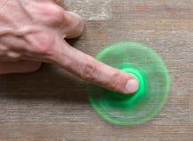 坐立不安手指锭床工人重音玩具的图象 免版税库存照片