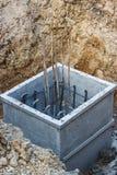 坑倾吐的水泥 免版税库存图片