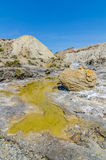 水坑在沙漠 免版税库存照片