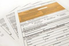 坑声明-波兰税文件 免版税库存图片