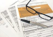 坑声明-波兰税文件 库存照片