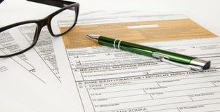 坑声明-波兰税文件 免版税图库摄影