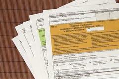 坑声明-波兰税文件 免版税库存照片