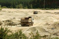 坑沙子 图库摄影