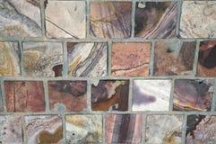 块五颜六色的大理石路面 库存照片
