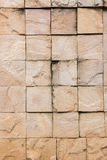 块做石墙 免版税库存照片