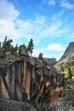 块冷杉巨大的杉木天空石头结构树 免版税库存图片