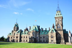 块大厦东部渥太华议会 免版税库存照片