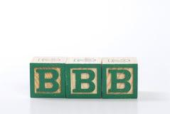 块字母木头 免版税库存照片