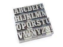 块字母 免版税库存图片