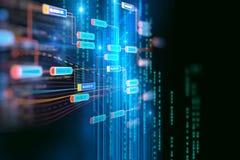 块式链在技术背景的网络概念 图库摄影