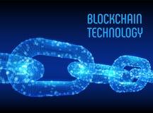 块式链 隐藏货币 Blockchain概念 3D与数字式块的wireframe链子 编辑可能的Cryptocurrency模板 股票 库存照片
