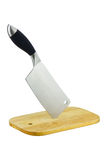 块料分切厨刀 库存照片