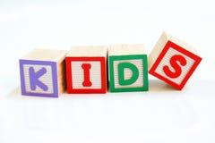 块概念孩子 免版税库存图片