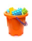 块用桶提充分的塑料 库存图片