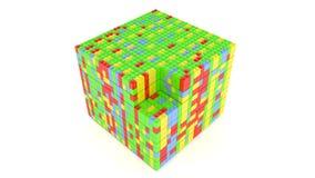 从块的立方体 免版税库存图片