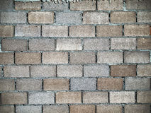 块砌砖工衬里墙壁 库存照片