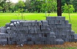 块砖块为建筑使用 免版税库存照片