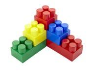 块童年建筑教育lego玩具 免版税图库摄影