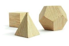 块组塑造木头 免版税库存图片