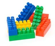 块色的玩具 免版税库存照片