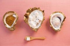 块菌状巧克力和蛋白杏仁饼干 免版税图库摄影