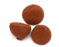 块菌状巧克力糖果 免版税图库摄影