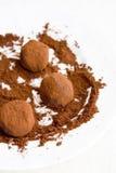 块菌状巧克力 免版税图库摄影