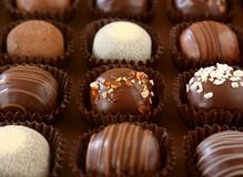 块菌状巧克力 库存照片