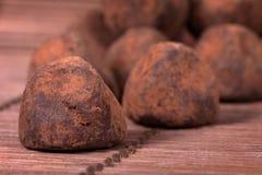 黑块菌状巧克力 库存图片