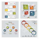 4块设计五颜六色的介绍模板的汇集 向量背景 库存照片