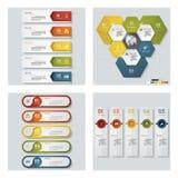 4块设计五颜六色的介绍模板的汇集 向量背景 免版税库存图片