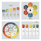 4块设计五颜六色的介绍模板的汇集 向量背景 库存图片