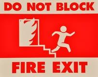 块退出不是火符号 免版税库存照片