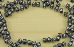 块通过拼写 免版税库存照片